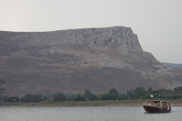 11.3.14 Mt. Arbol from Sea of Galilee Boat